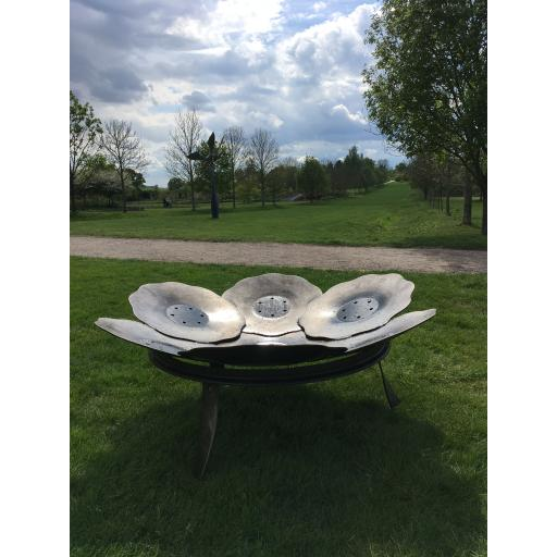 Scalloped Tulip Fire Bowl