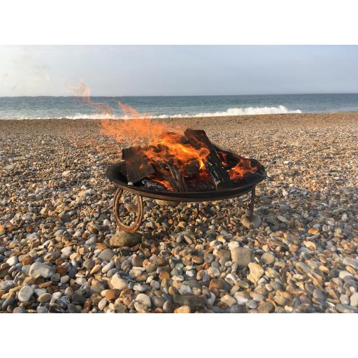 Lily pad fire bowl horse shoes beach.jpg